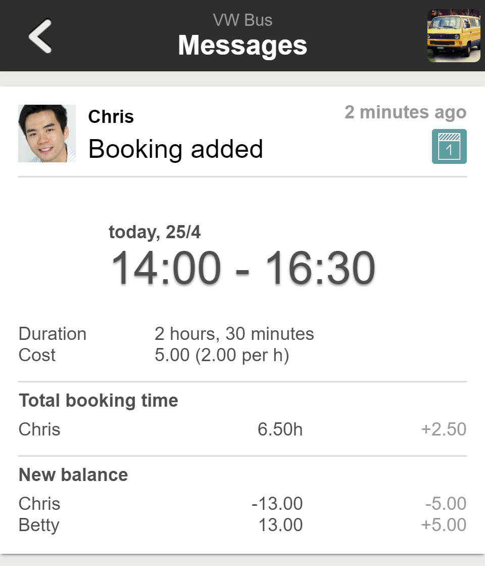 Bookings and Reservations - Booking Notification